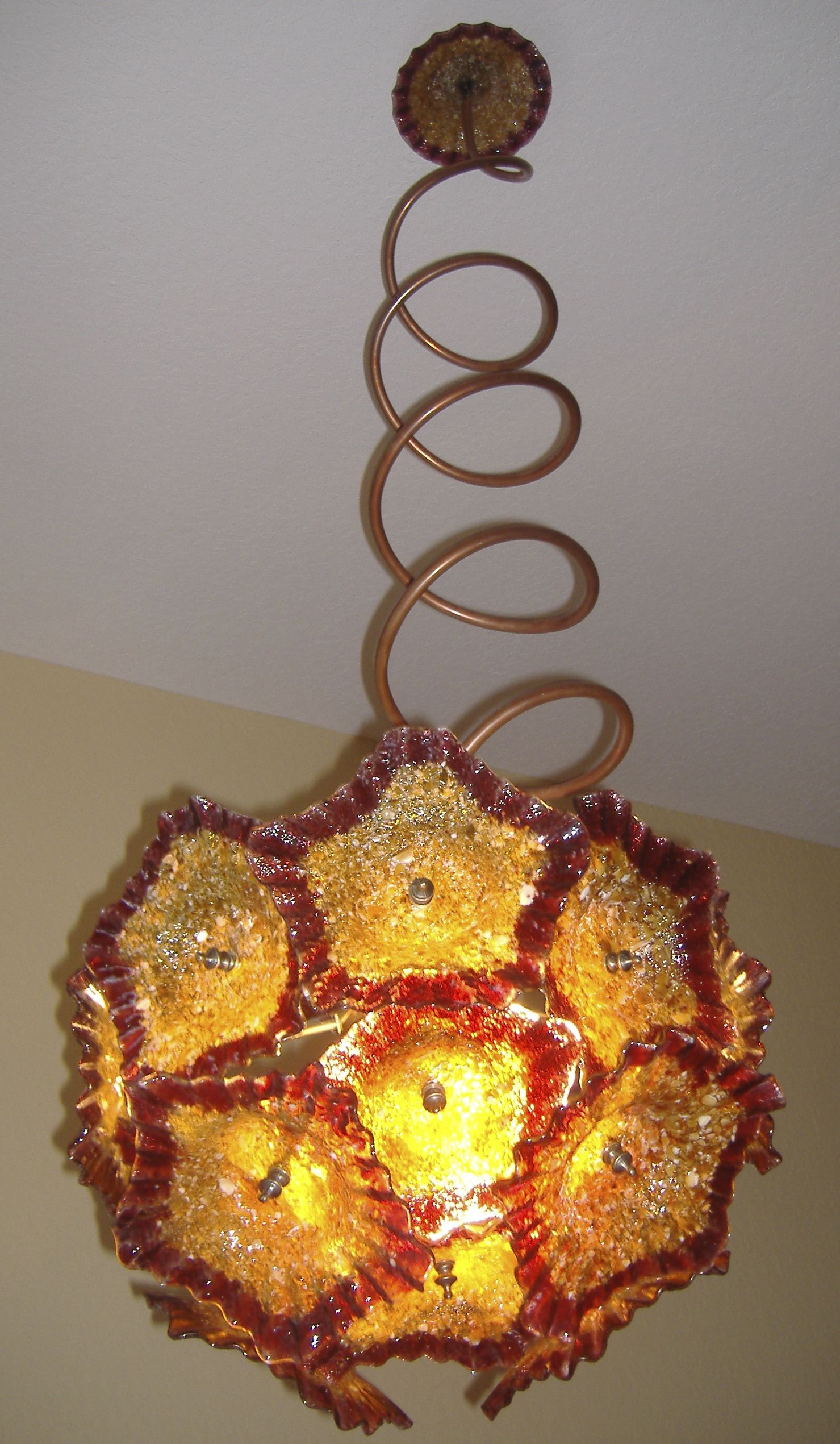 Primo GlassPrimo Glass Custom hand blown glass chandeliers by