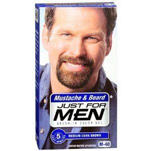 Just For Men Mustache Beard MediumDark Brown M40 BrushIn Color Gel ...