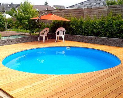Stahlwandpool im garten for Garten pool stahlwand