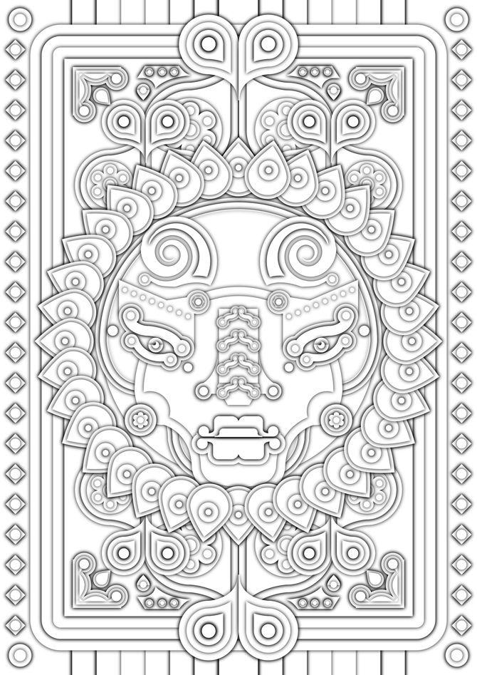 Afrikanische Muster Malvorlagen Online - tiffanylovesbooks