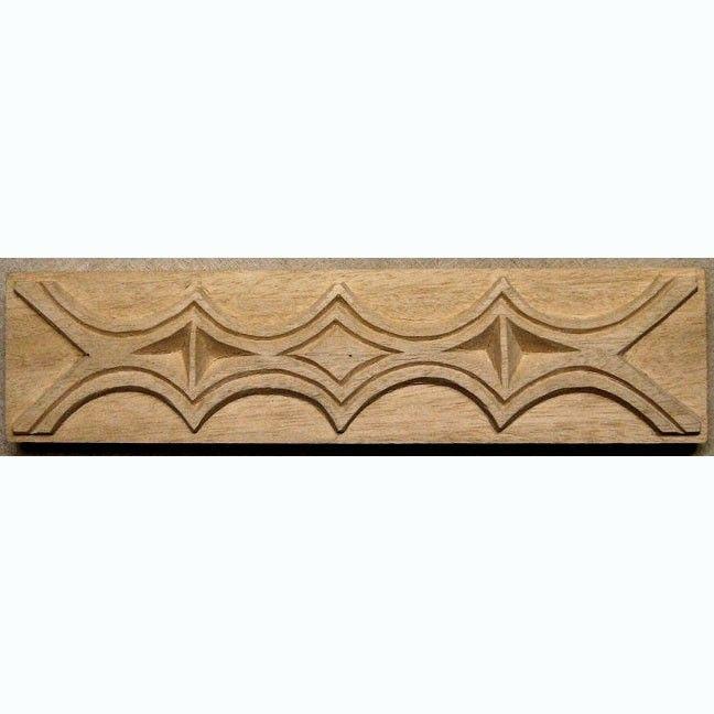 Oshiwa Carved Wood Printing Stamp, African Design, 10.25'' x 2.5'', Item 23-5-75. $33,75, via Etsy.