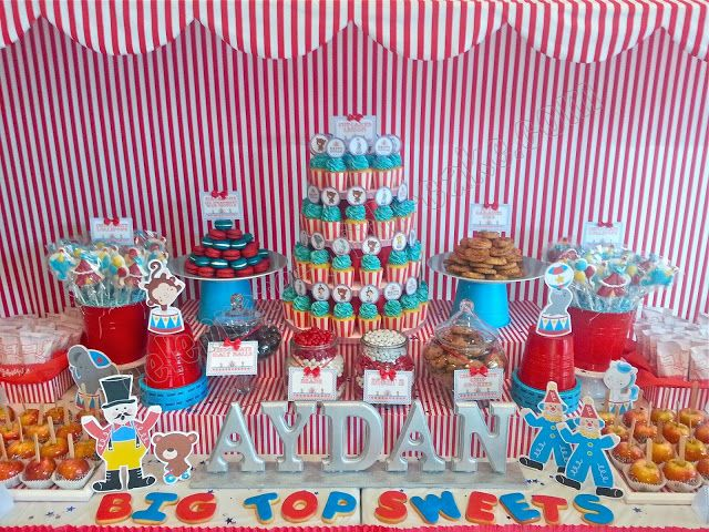 Table For 6 Year Old: Circus Carnival Themed Dessert Table