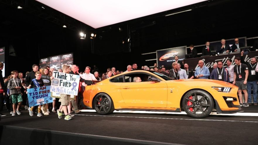 First 2020 Ford Mustang Shelby Gt500 Auctioned For 1 1m To Help
