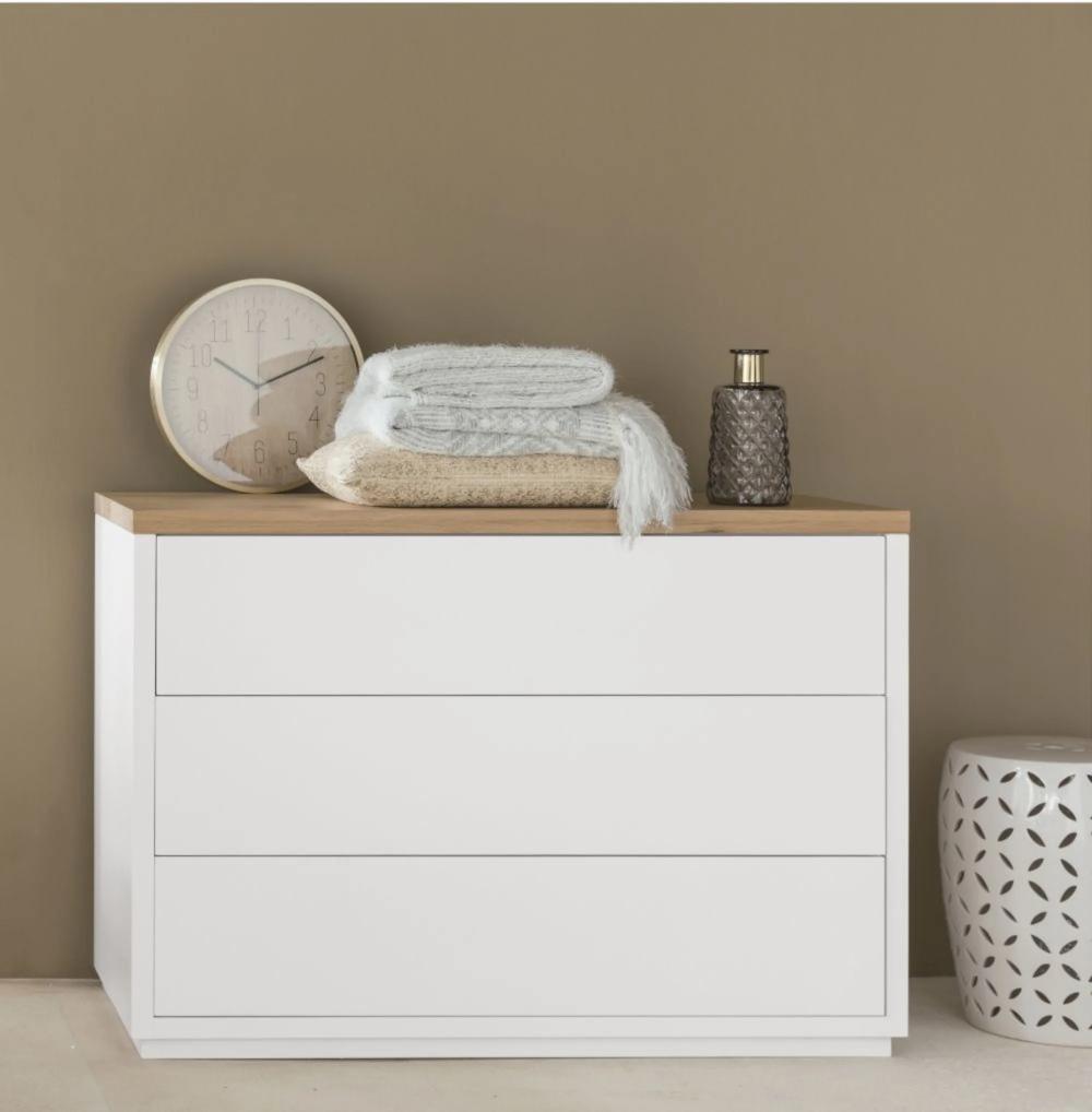Commode Blanche 3 Tiroirs Maisons Du Monde Comoda Blanca Espacio De Almacenamiento Muebles