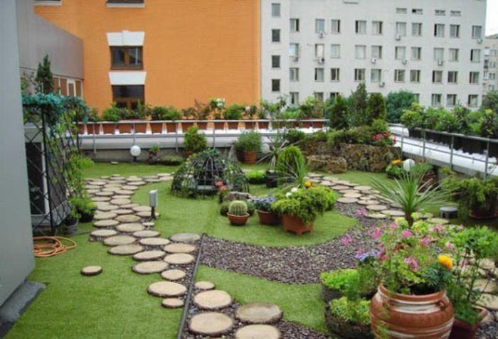 bepflanzung dachterrasse blumentüpfer garten design   balcons, Hause und garten