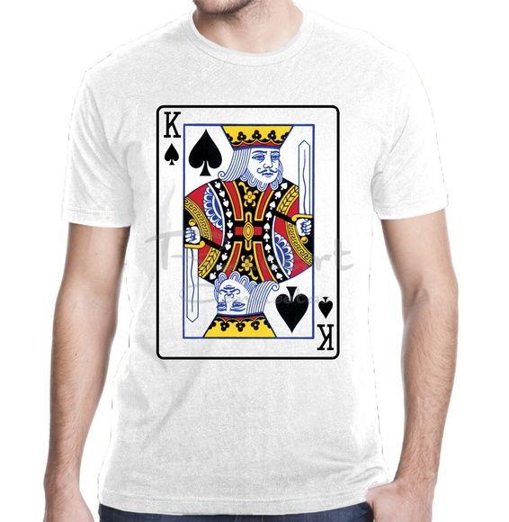 be4089aee4 Compre Camiseta Jogos De Cartas Baralho Poker Rei de Espadas no Elo7 por R   30