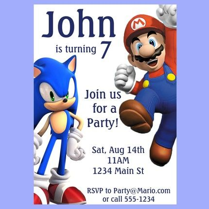 We may do a Sonic and Mario theme for one party this year This
