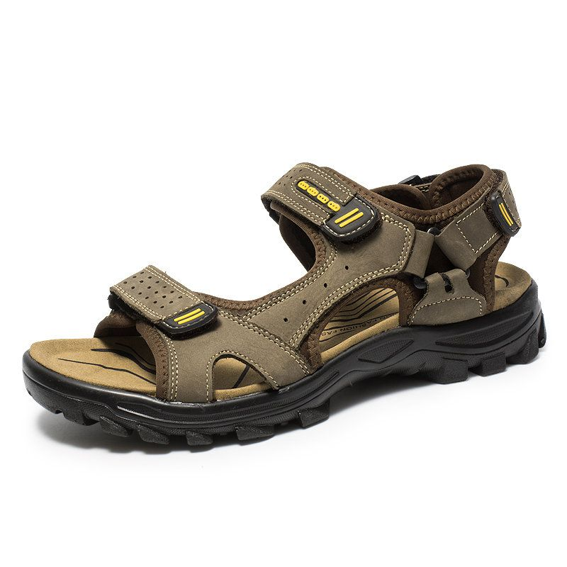 Men Hook Loop Outdoor Comfy Sole Water Friendly Sandals Best Shoes Online Types Of Shoes Stylish Shoes