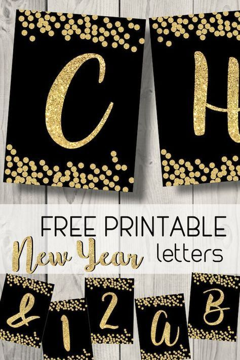 Free Printable Happy New Year Banner Letters - Paper Trail ...