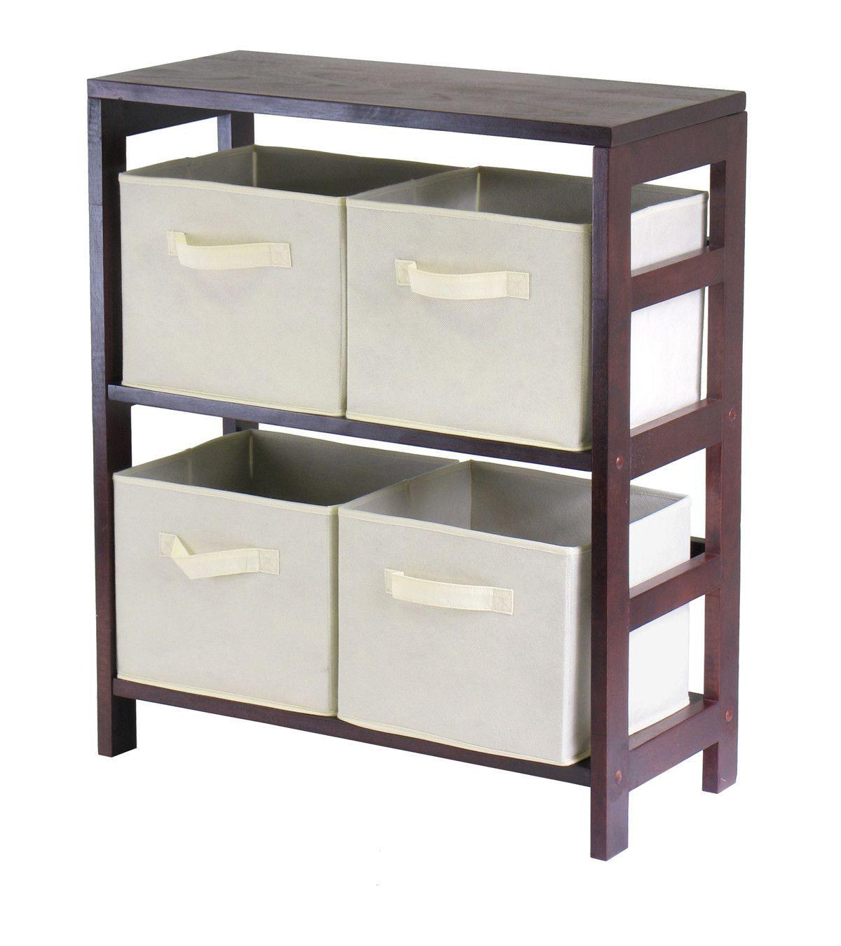 Decker 4 Drawers Low Storage Shelf