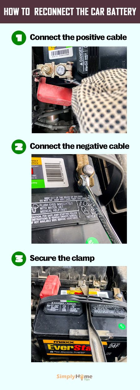 Reconnecting Car Battery Car Battery Diy Step By Step Car Mechanic