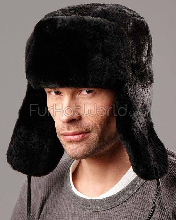 f01d4fcef Black Mouton Sheepskin Full Fur Russian Hat for Men | hats | Russian ...