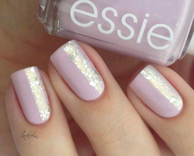 Half Glitter Nails Trendy Nails Glitter Nails Nail Polish