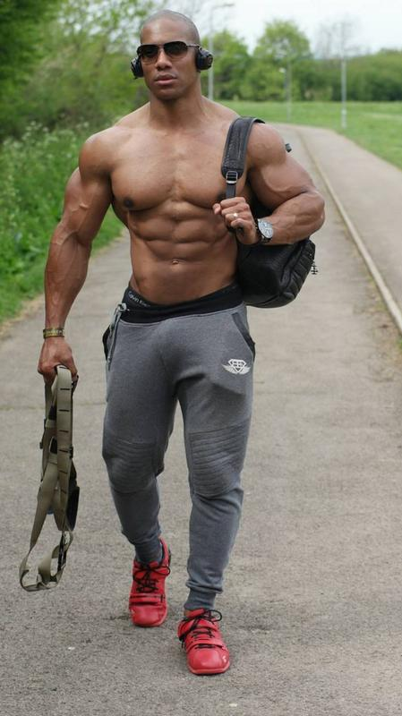 hunk Black men muscle