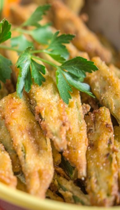 Fried Okra with Buttermilk Herb Sauce | Southern B