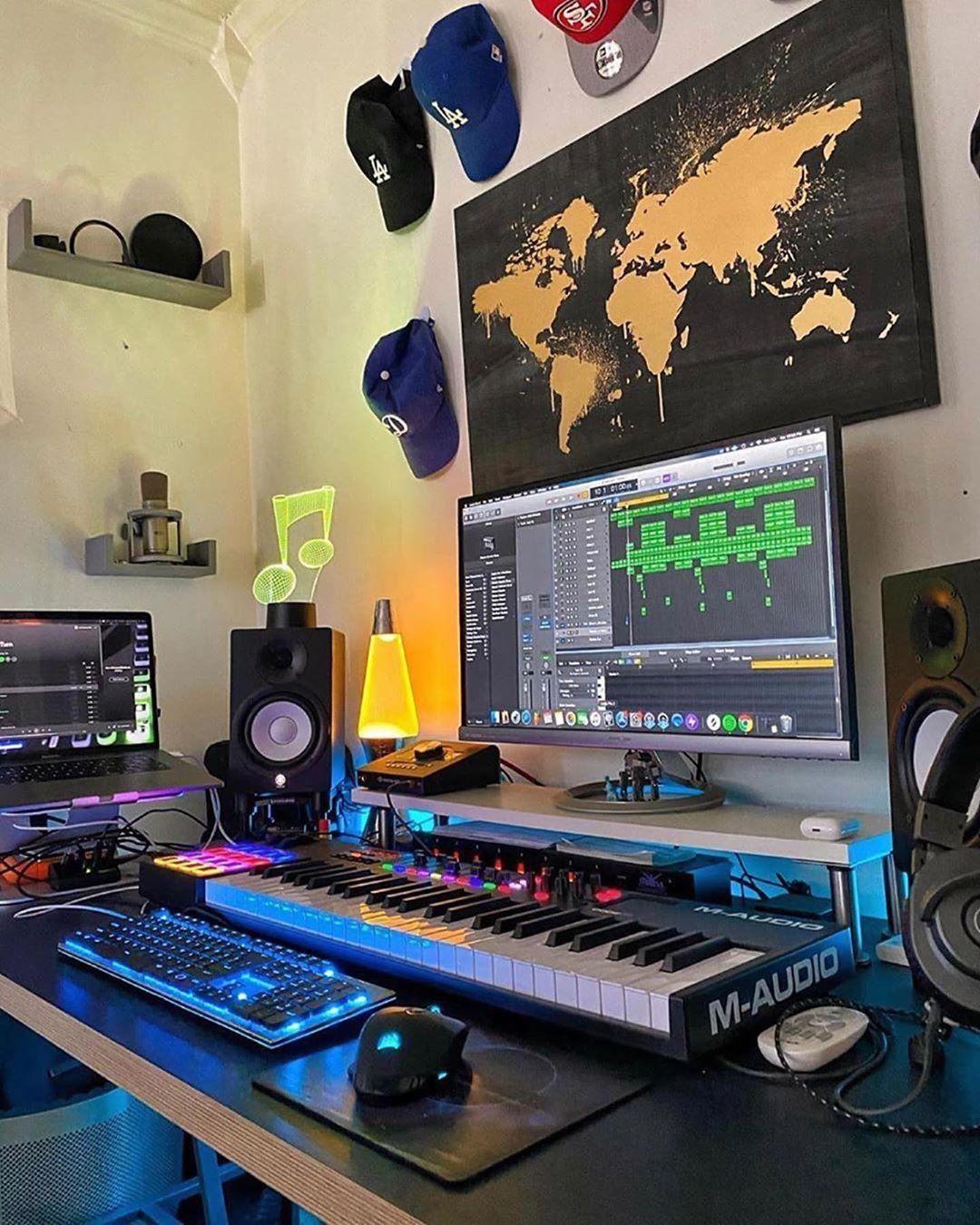 Pin On Studio Bedroom home recording studio