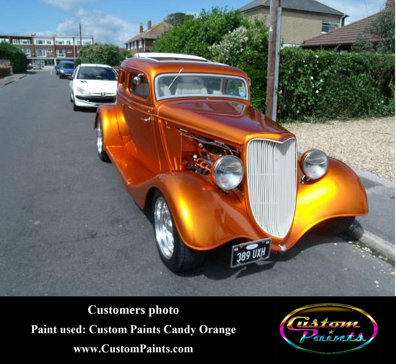 Customer\'s Hotrod in Custom Paints Candy Orange www.CustomPaints ...