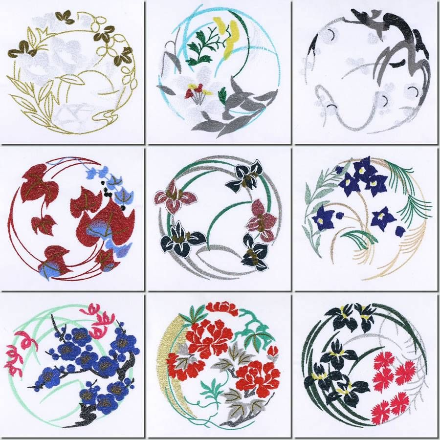japanese design patterns |  -creations machine embroidery