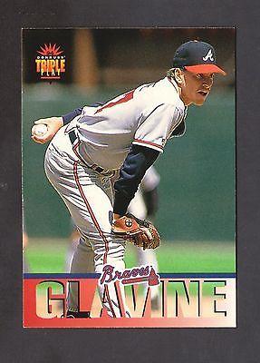 1994 Donruss Triple Play Baseball Card 44 Tom Glavine Atlanta