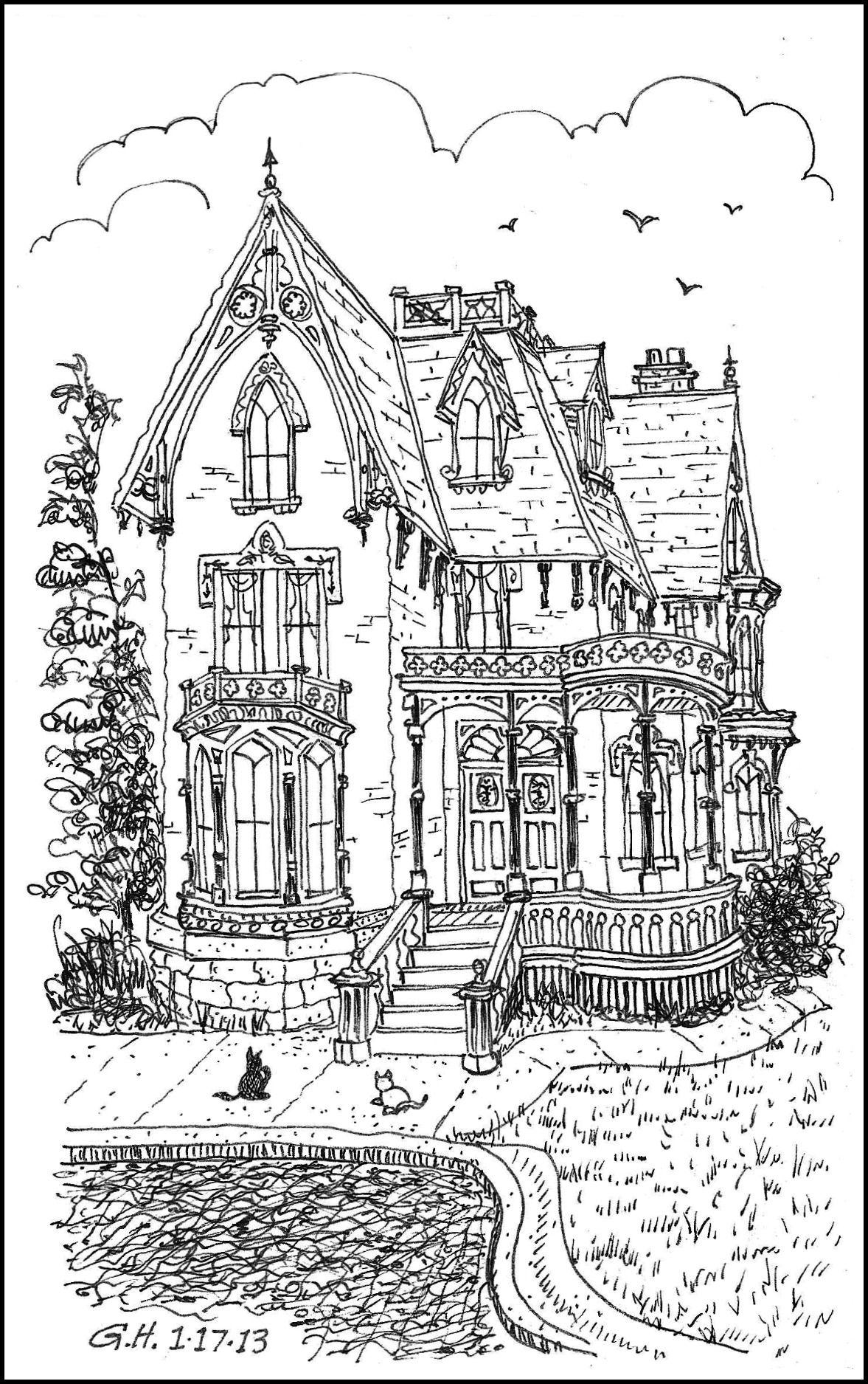 Icolor Architecture Victorian Loose Line X