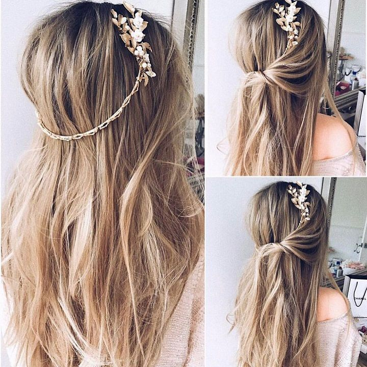 Half up Half down hairstyle | itakeyou.co.uk #hairstyle #halfuphalfdown #halfdown #hairideas #hairinspiration #hairstyles #hairdownideas #weddinghair #bridalhair