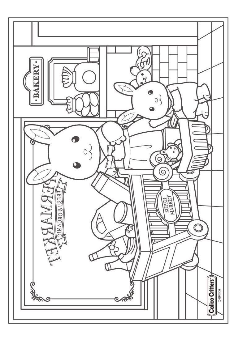 Print Sylvanian Families Kleurplaat Kleurplaten Kleurboek Mandala Kleurplaten