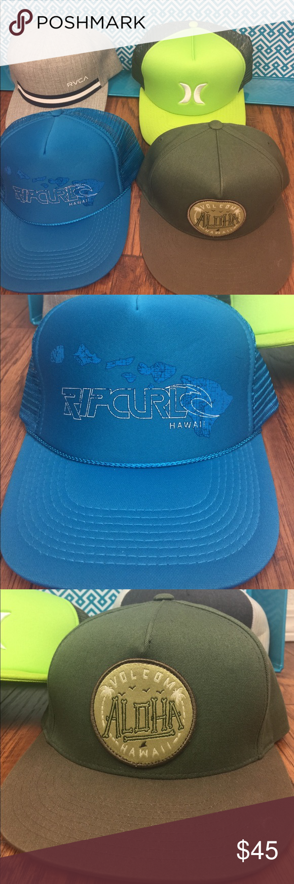 4 SnapBack Hats RVCA 5ed47d43c32c