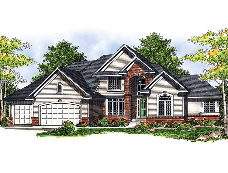 Eplans New American House Plan - A Perfect Home for Entertaining Large Groups - 2911 Square Feet and 3 Bedrooms from Eplans - House Plan Code HWEPL13571