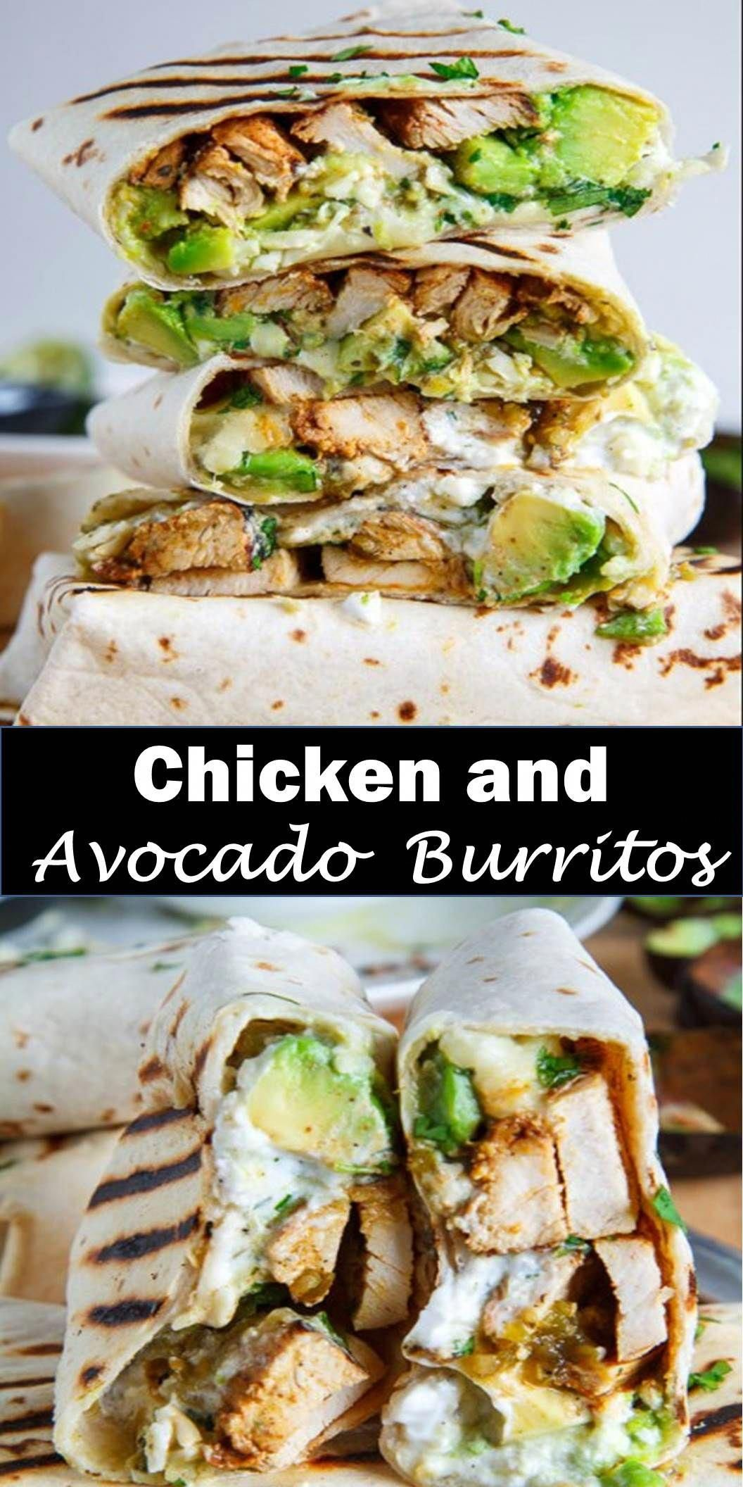 Delicious and healthy family choice special food and drink Chicken and Avocado Burritos Burritos st