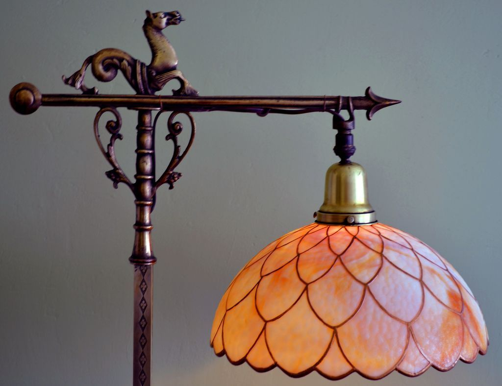 rembrandt arts and crafts bridge lamp - Google Search   Bridge ...