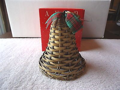 "Vintage Avon Holiday Greetings Wicker Bell "" NIB "" BEAUTIFUL COLLECTIBLE ITEM "" #vintage #collectibles #home"