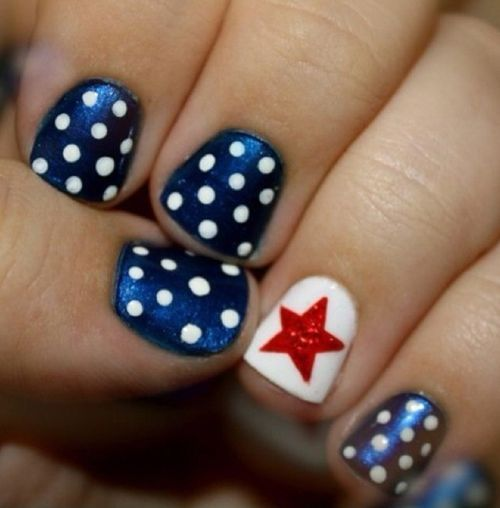 Red White Blue Nail Designs Our Country Nails And Proud To Be