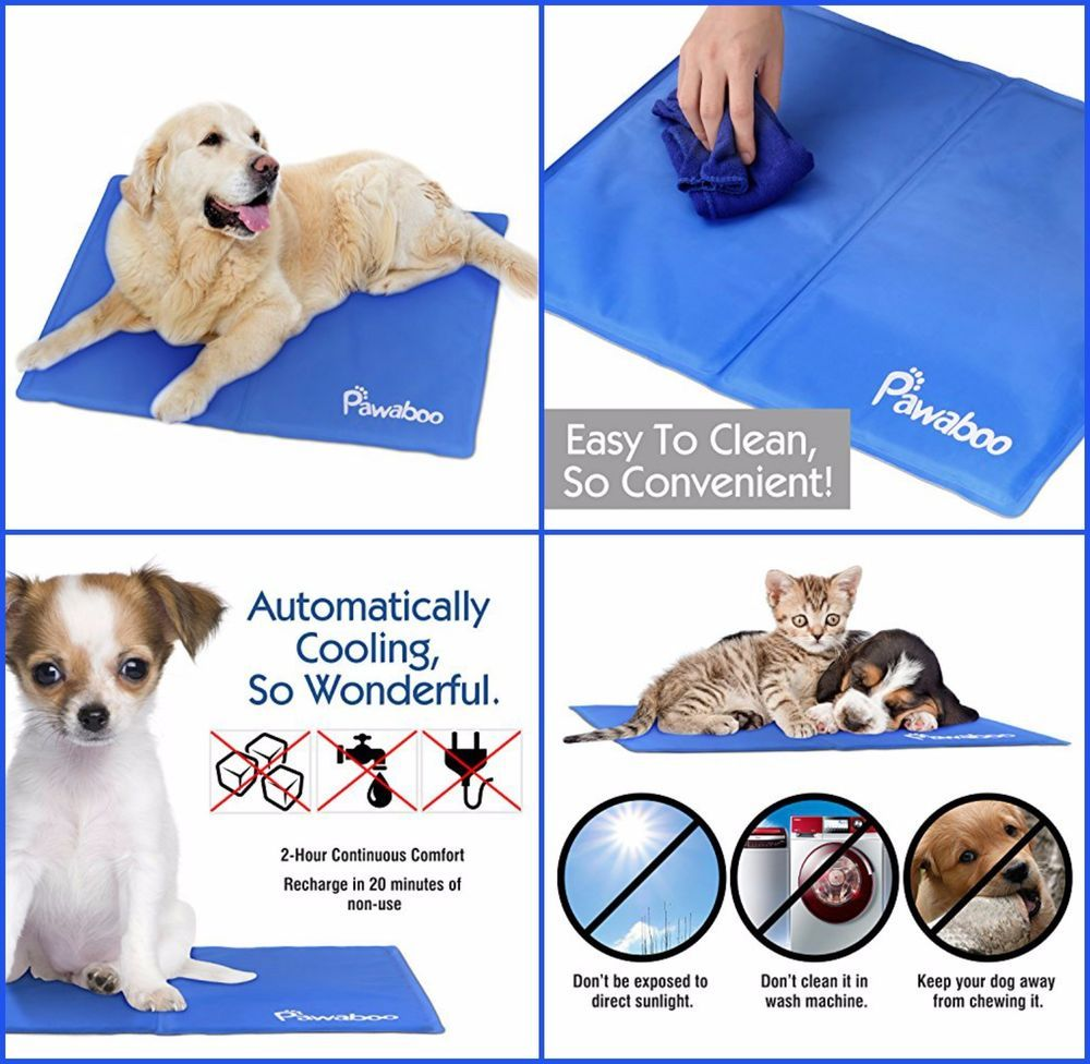 Soft Pet Cooling Mat Cool Chilly Gel Pad Keeps Pets Dogs