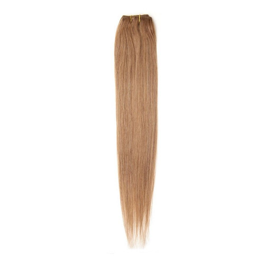 American Pride Single Weft Clip In Hair 18 Golden Brown 12 Ettuet
