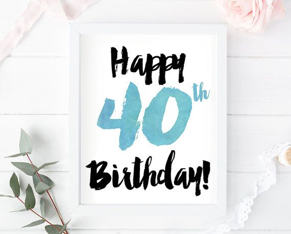It is a graphic of Enterprising Printable 40th Birthday Cards