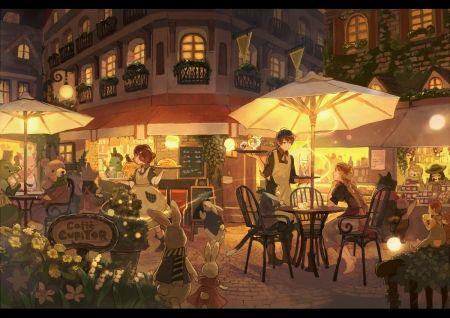 Caffe Cupitor Desktop Nexus Wallpapers Anime Scenery Anime Background Scenery