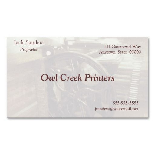 Letterpress machine in studio grunge fade business card to customize as you wish #LetterpressBusinessCard, #LetterpressPrinting, #letterpress, #CoolBusinessCards