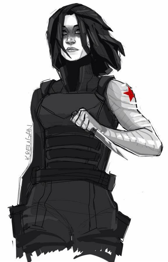 Fem Winter Soldier Fanart