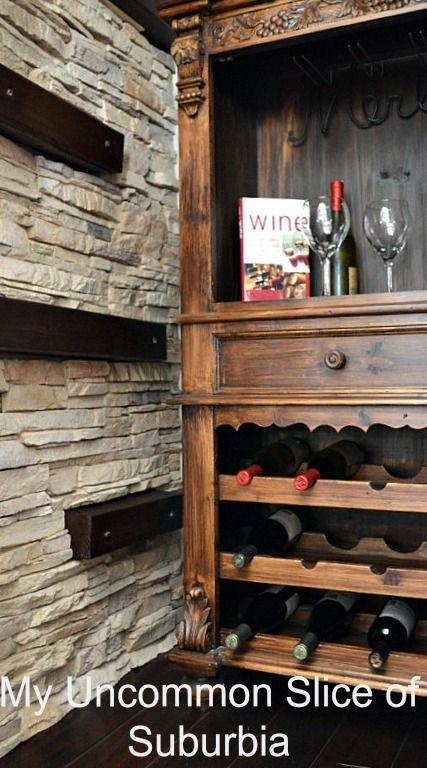 DIY Installing faux stone indoors  Blogger Home Projects