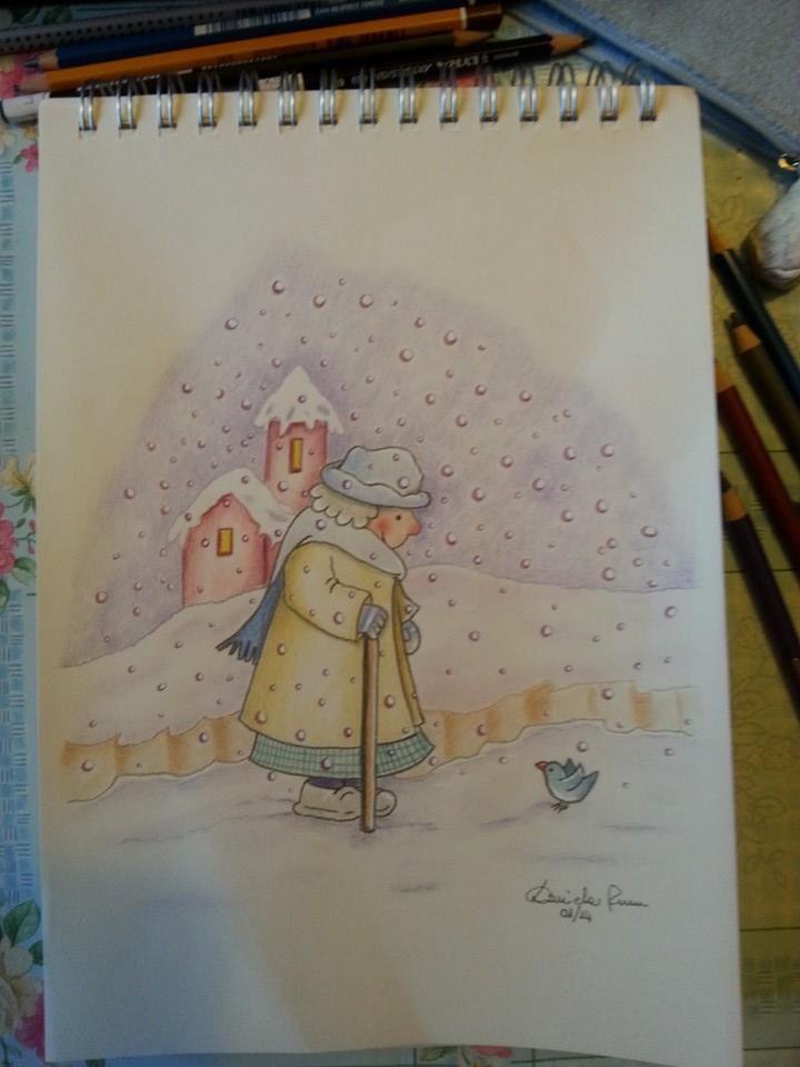 Grunny under the snow