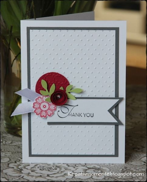 embossed dots thank you card