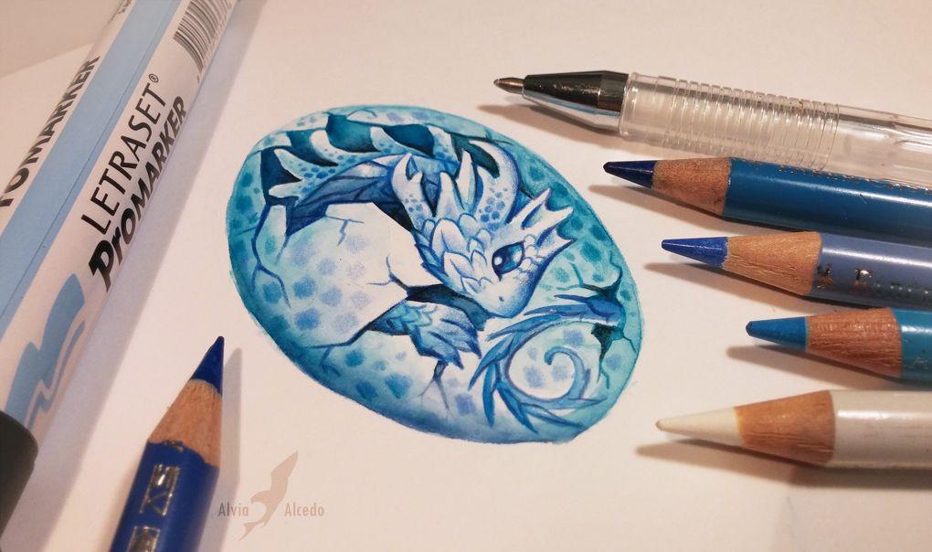 Water dragon's egg by AlviaAlcedo.deviantart.com on @DeviantArt