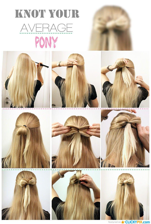 diy hair tutorials step by step guides bow medium blonde | hair