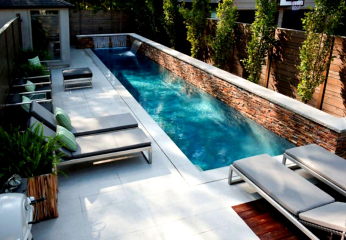 Swiming Pools Pool Design Ideas For A Uphill Lot Zero ... on Uphill Backyard Landscaping Ideas id=77000