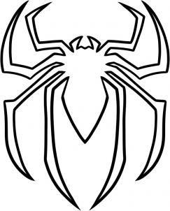 How To Draw The Spiderman Logo Spiderman Symbol By Dawn Superhelden Superheld Taart Spiderman