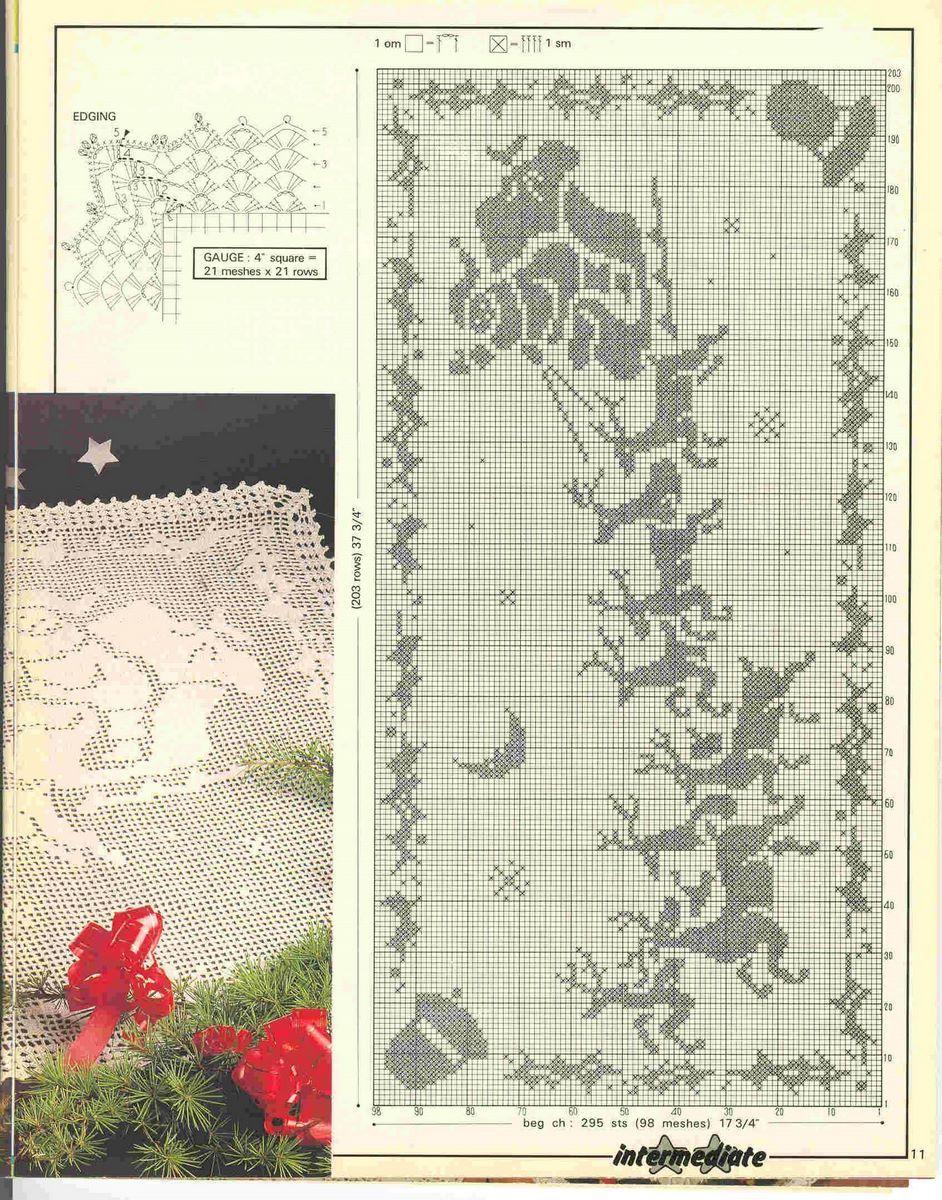 Santa on his sleigh. Christmas chart | X-stitch | Pinterest ...