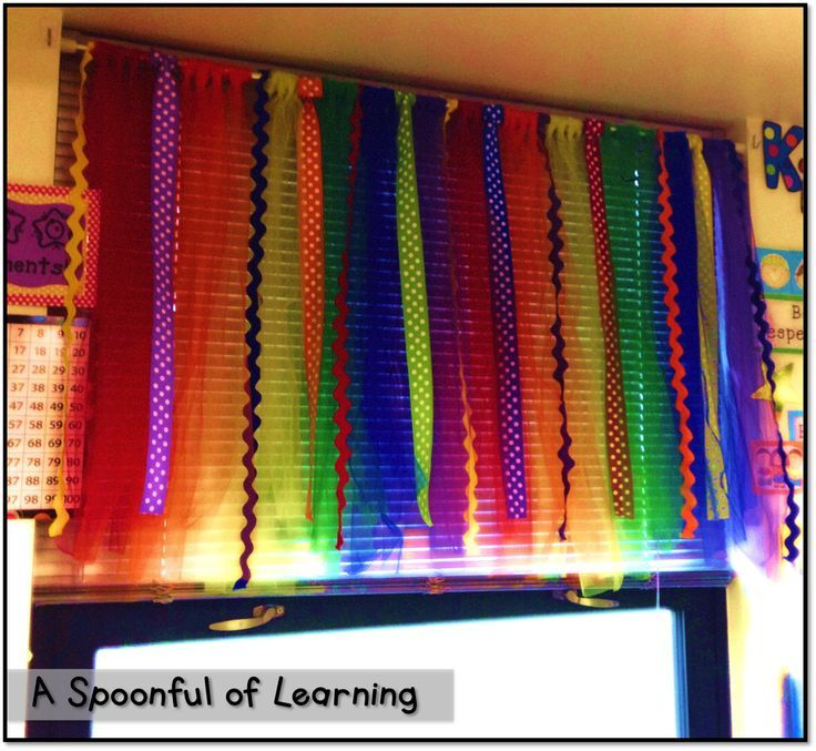 DIY Classroom Curtains- NO Sewing or Gluing! ....Follow for free too-neat-n... - Beginning of Sch