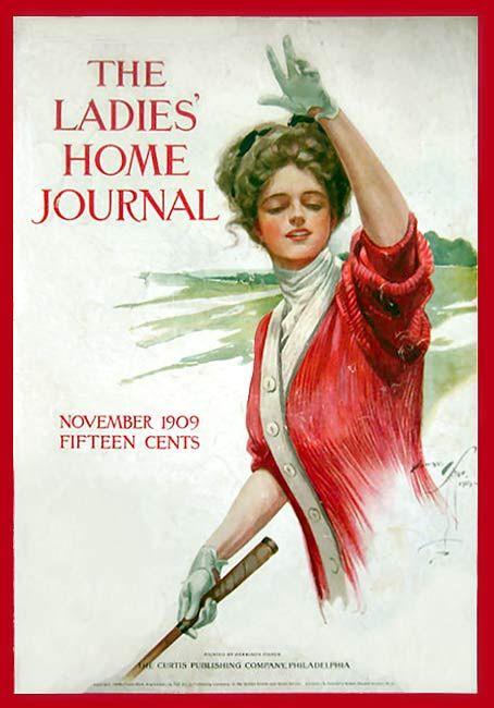 Ladies Home Journal Nov 1909 Illustrated Ladies Vintage Golf Vintage Magazines