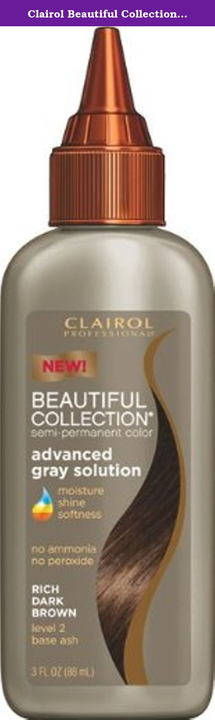 Clairol Beautiful Collection Advanced Gray Solution Hair Color 2a