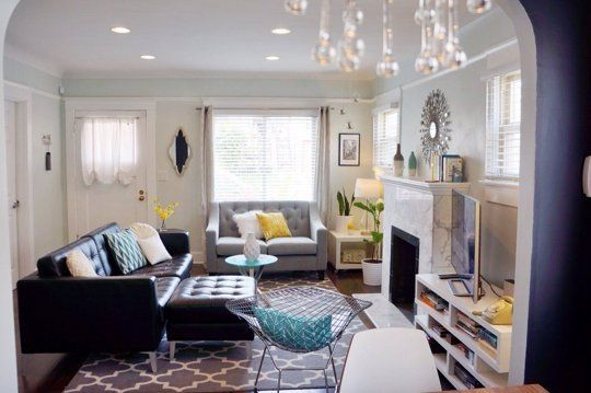 Tina S 1920s Spanish Craftsman Bungalow Livingroom Layout Bungalow Living Room Small Living Room Layout
